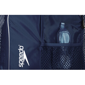 speedo Deluxe Ventilator Bolsa de red L, navy